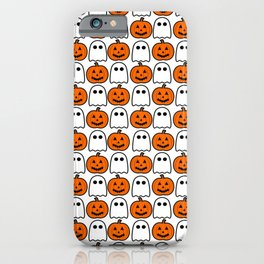 Spooky Halloween Ghosts And Pumpkins iPhone Case
