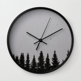 snowy day Wall Clock
