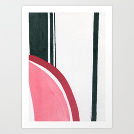 Red and black #1 Art Print