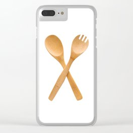 Crossed fork and spoon sign Clear iPhone Case