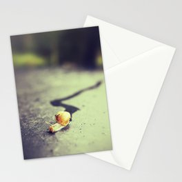 Snail on its way Stationery Cards