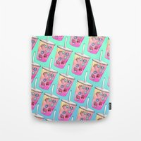 drink Tote Bags featuring Summer Drink by Sara Eshak