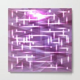 Bright cosmic luminous delicate eggplant triangles. Metal Print