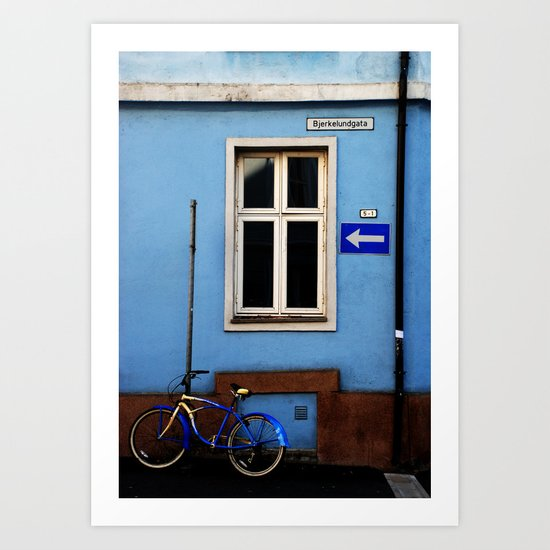 Bjerkelundgata's blues Art Print