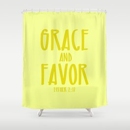 Grace and Favor Shower Curtain