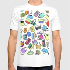 colored bags obsession MEDIUM Mens Fitted Tee White