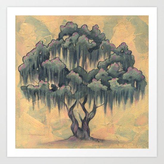 Crepe Myrtle Tree in Bloom Art Print
