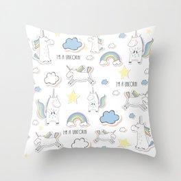 I am a Unicorn Throw Pillow