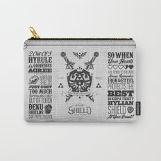 Legend of Zelda Hylian Shield Foundry logo Iconic Geek Line Artly Carry-All Pouch