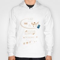 doctor who Hoodies featuring Time and Space by Risa Rodil