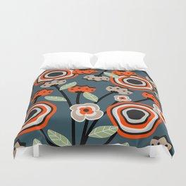 Floral garden Duvet Cover