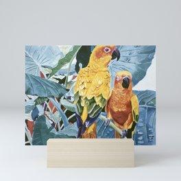 Yellow Parrots Mini Art Print