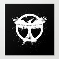 mockingjay Canvas Prints featuring MOCKINGJAY by Beka