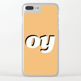 Oy vey Clear iPhone Case