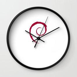 Debian Official Spiral Swirl Logo T-Shirt Wall Clock