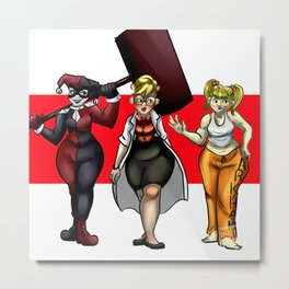 The Many Faces Of H. Quinzel Metal Print