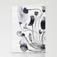 georgiana paraschiv Stationery Cards featuring ink flowers by Georgiana Paraschiv