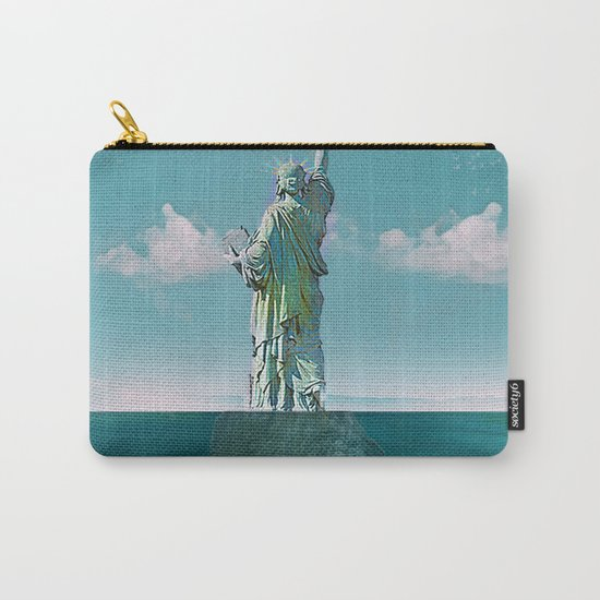 Under the statue Carry-All Pouch