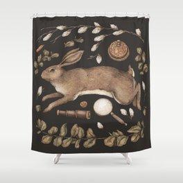 Rabbit's Garden Collection Shower Curtain