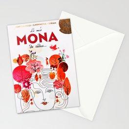 Vintage La Mas Mona de Todas Wine Bottle Label Print Stationery Cards