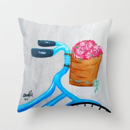 Simplicity and Flower Baskets Throw Pillow