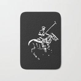 Polo pony and rider Bath Mat