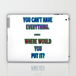 "Funny One-Liner ""Hoarding"" Joke Laptop & iPad Skin"