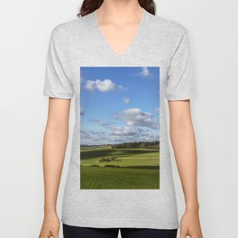 Views of Wiltshire. Unisex V-Neck
