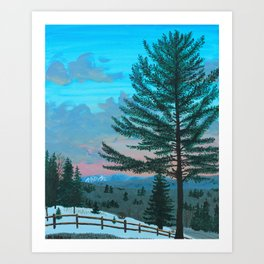 VT Cabin View Art Print