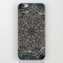 Blue and black Center Swirl iPhone Skin