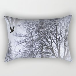 Winter Raven... Rectangular Pillow