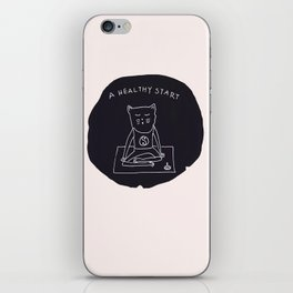 Relax Cat, A Healthy Start, Meditation iPhone Skin