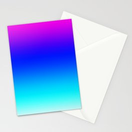 Multicolor gradient pink blue aqua white Stationery Cards