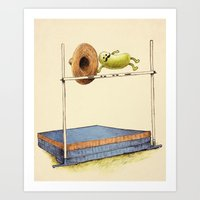 record Art Prints featuring World Record by Eric Fan