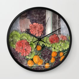 The Window Box Wall Clock