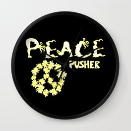 Peace Pusher Wall Clock
