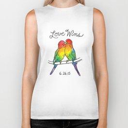 #LoveWins Birds Biker Tank