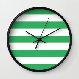 Asda Green (2002) - solid color - white stripes pattern Wall Clock