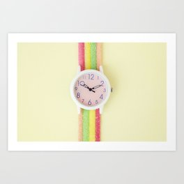 Photo, Image, Wristwatch Image, Sour Stick, Colorful Image, Photography Print, Sweet Art, Fine Art Art Print