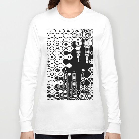 Bubblelized waves on the hole Long Sleeve T-shirt