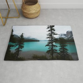 Maligne Lake  Landscape Photography Rug
