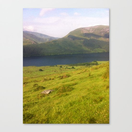 Wales watercolour Canvas Print