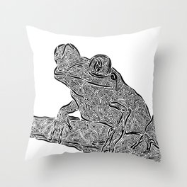 Froggy Day Throw Pillow
