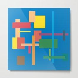Imitation Blue Mid-20th Century Abstract Metal Print