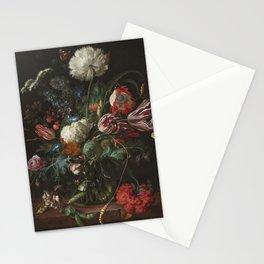 Jan Davidsz de Heem - Vase of Flowers (c.1660) Stationery Cards