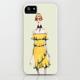 Rebecca in Ruffles iPhone Case