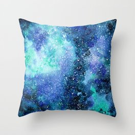 Mint space Throw Pillow