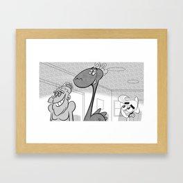 Ness and Bigfoot FOP Framed Art Print