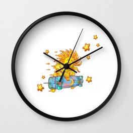 Sun Skate A Wall Clock