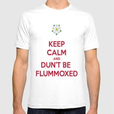 Keep Calm and Dun't Be Flummoxed White Mens Fitted Tee SMALL